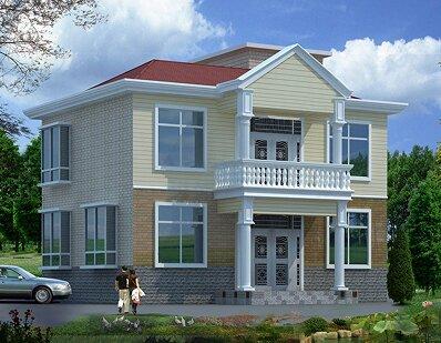 9m二层经典农村房屋设计图