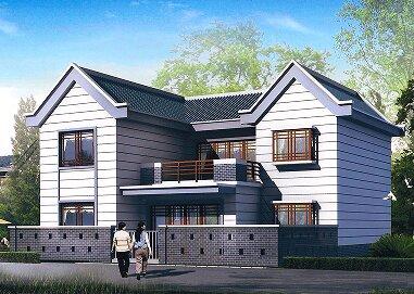 0m二层小别墅图纸_农村二层楼房设计图