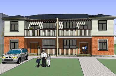 二层联排自建房设计图